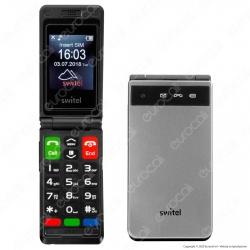 Switel M222 Senior Mobile Telefono Cellulare per Portatori di Apparecchi Acustici Colore Argento e Nero