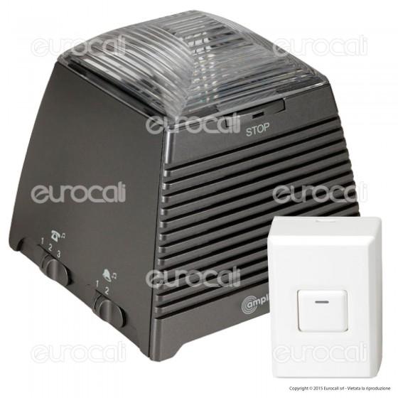 Amplicomms Ring Flash 200 Amplificatore con Flash e Campanello per Telefoni per Portatori di Apparecchi Acustici