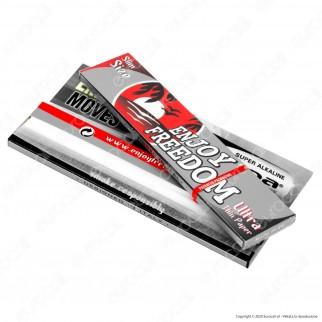PROV-A00207001 - Cartine Enjoy Freedom Silver King Size Slim Lunghe - Scatola Da 50 Libretti