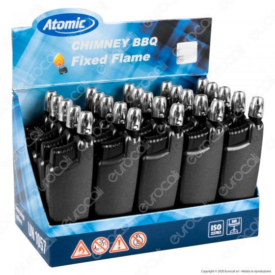 Atomic Chimney BBQ Accendigas Multiuso Maxi Elettronico Ricaricabile Colore Antracite - Box da 25 Accendini