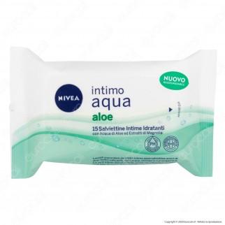 Nivea Intimo Aqua Aloe Salviettine Intime Idratanti - Confezione da 15pz.