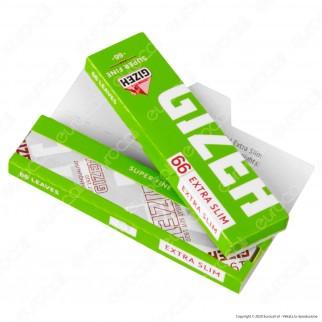 PROV-A00222012 - Cartine Gizeh Verdi Extra Slim Super Fine Corte - Scatola da 50 Libretti