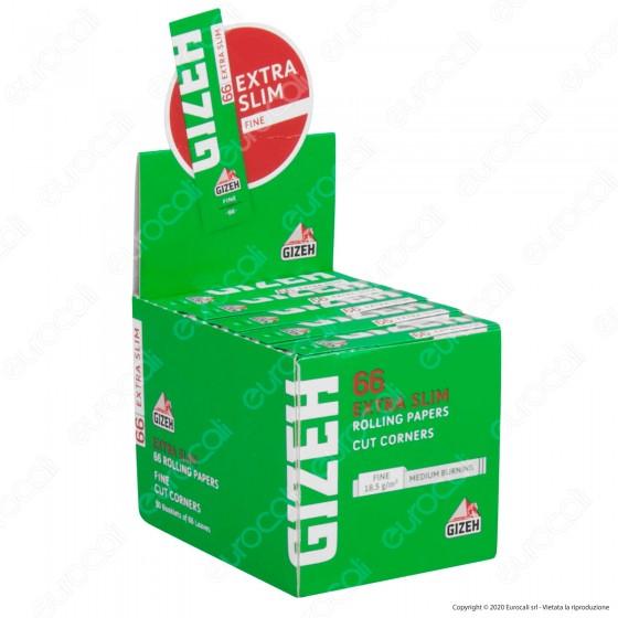 PROV-A00213012 - Cartine Gizeh Fine Corte Extra Slim Cut Corners - Scatola da 50 Libretti