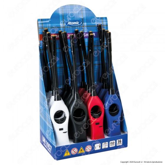 Atomic BBQ Flex Turbo Accendigas Multiuso Maxi Elettronico Antivento Ricaricabile - Box da 16 Accendini