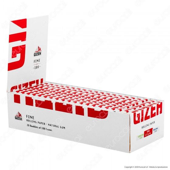 PROV-A00212005 - Cartine Gizeh Fine Corte Doppie Libretto Magnetico - Scatola da 20 Libretti