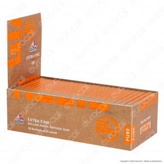 PROV-A00211002 - Cartine Gizeh Extra Fine Pure Corte Non Sbiancate - Scatola da 50 Libretti