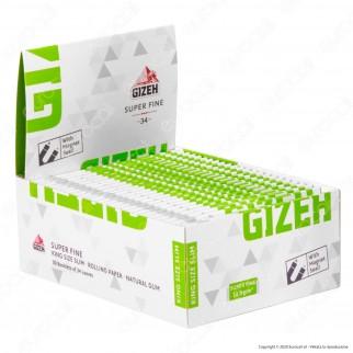 PROV-A00221029 - Cartine Gizeh Super Fine King Size Slim Lunghe Libretto Magnetico - Scatola da 50 Libretti