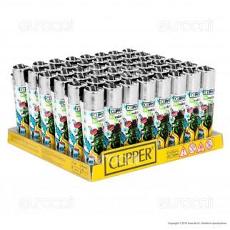 Clipper Large Fantasia Breaking Bud - Box da 48 Accendini