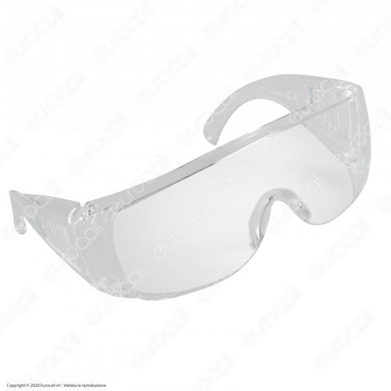 Occhiali Protettivi DPI per Protezione Occhi in Policarbonato Trasparente Robusto 2mm Marchio CE