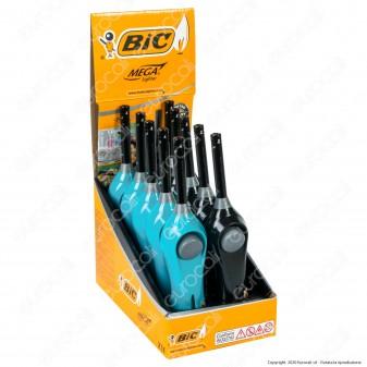 Bic Mega Lighter Multi Accendigas Multiuso Maxi Elettronico - Box da 10 Accendini