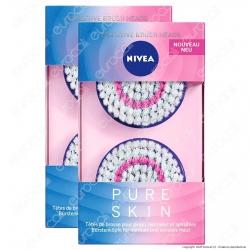 Nivea Pure Skin Spazzole di Ricambio per Pelli Sensibili - 2 Confezioni da 2 Testine