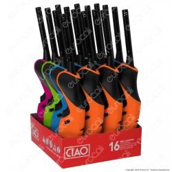 Ciao Accendigas Multiuso Maxi Elettronico Ricaricabile - Box da 16 Accendini