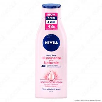 Nivea Crema Corpo Illuminante Effetto Naturale Siero Idratazione Intensa 48 ore - Flacone da 200ml