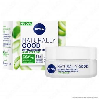 Nivea Naturally Good Crema Viso Giorno Idratante Rinfrescante con Aloe Vera - Confezione da 50ml