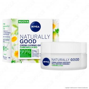 Nivea Naturally Good Crema Viso Giorno Idratante Nutriente Pelli Secche e Sensibili - Confezione da 50ml