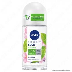 Nivea Naturally Good Deodorante Roll-on con Bio Green Tea - Flacone da 50ml