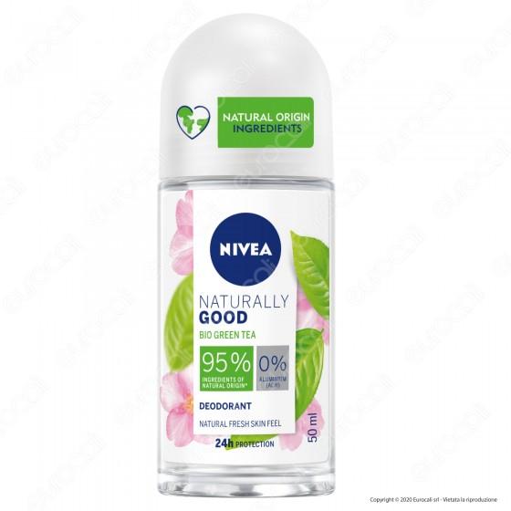Nivea Naturally Good BIO Deodorante Roll-on con Green Tea - Flacone da 50ml