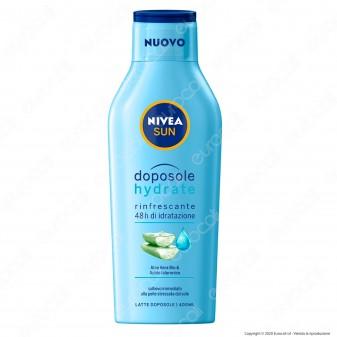 Nivea Sun Latte Doposole Hydrate Rinfrescante Idratante con Aloe Vera Bio - Flacone da 400ml