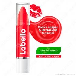 Labello Crayon Lipstick Poppy Red Matitone Labbra Colora e Idrata - Confezione da 1pz