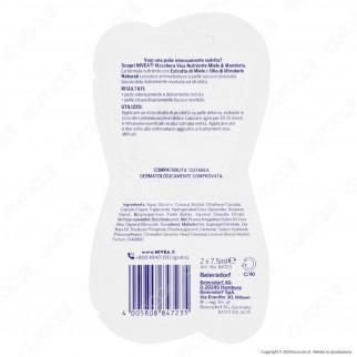 Nivea Maschera Viso Nutriente Miele & Mandorla - Bustina da 2 dosi di 7,5ml