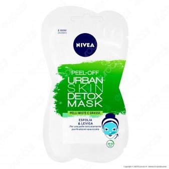 Nivea Maschera Peel-Off Urban Skin Detox Esfoliante e Levigante - Bustina da 2 dosi di 7,5ml