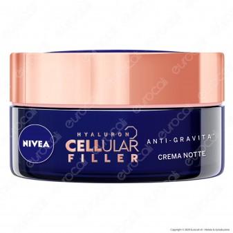 Nivea Hyaluron Cellular Filler Anti-Gravità Ricompattante Crema Notte Anti-Rughe - Confezione da 50ml
