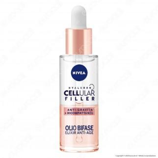 Nivea Hyaluron Cellular Filler + Ricompattante Olio Bifase Anti-Età - Flacone da 30ml