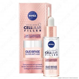 Nivea Hyaluron Cellular Filler Ricompattante Olio Bifase Anti-Età Effetto Lifting - Flacone da 30ml