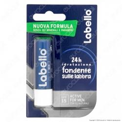 Labello Active for Men Balsamo Idratante Labbra Burrocacao Non Colorato SPF15 - Confezione da 1pz