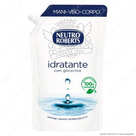 Neutro Roberts Ricarca Sapone Liquido Idratante con Glicerina Naturale - Flacone da 400ml