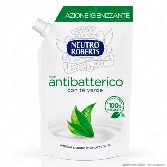Neutro Roberts Ricarica Sapone Liquido Antibatterico con Té Verde - Flacone da 400ml