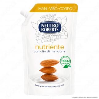Neutro Roberts Ricarica Sapone Liquido Nutriente con Olio di Mandorla - Flacone da 400ml
