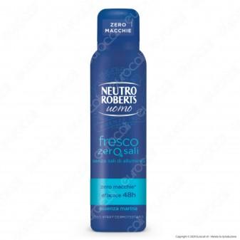 Neutro Roberts Deodorante Spray Fresco Zero Sali Uomo Essenza Marina - Flacone da 150ml