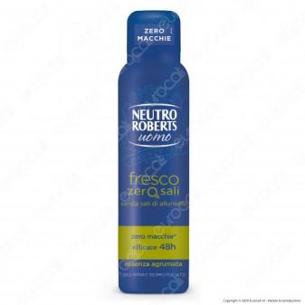 Neutro Roberts Deodorante Spray Fresco Zero Sali Uomo Essenza Agrumata - Flacone da 150ml