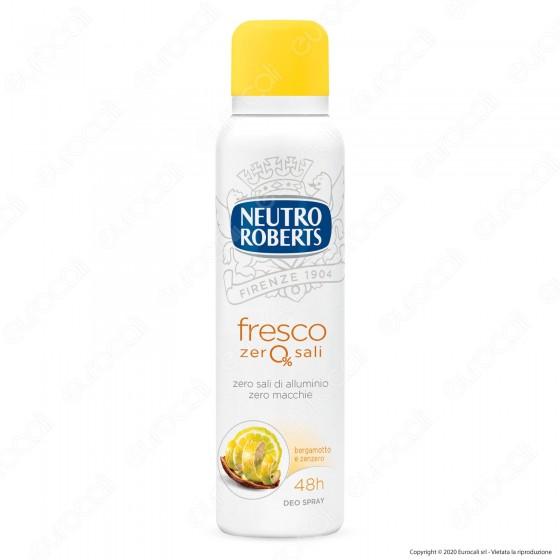 Neutro Roberts Deodorante Spray Fresco Zero Sali Essenza Frizzante- Flacone da 150ml
