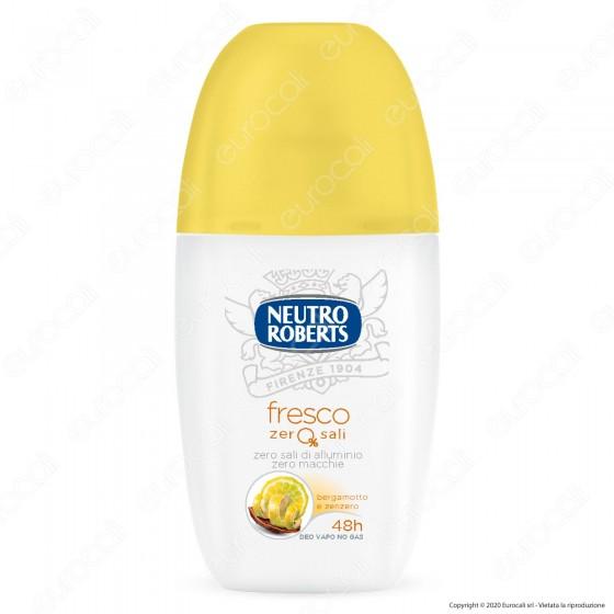 Neutro Roberts Deodorante Vapo Fresco Zero Sali Bergamotto e Zenzero - Flacone da 75ml