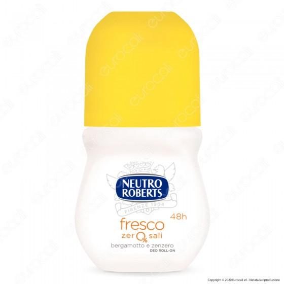 Neutro Roberts Deodorante Roll-On Zero Sali Bergamotto e Zenzero - Flacone da 50ml