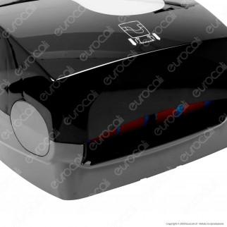 Celtex Formatic Megamini Black Dispenser di Asciugamani da Muro per Bobine non Pretagliate - Colore Nero