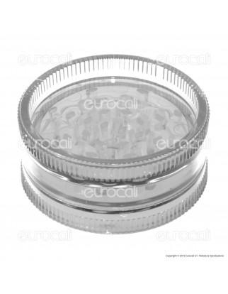 Grinder Tritatabacco 2 Parti in Plastica Trasparente