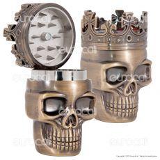 Grinder King Skull Tritatabacco 3 Parti in Metallo - Teschio