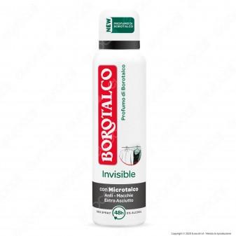 Borotalco Deodorante Invisible Spray con Microtalco Anti Macchie Profumo Borotalco - Flacone da 150ml