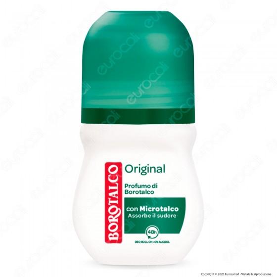 Borotalco Deodorante Roll-On con Microtalco Original - Flacone da 50ml