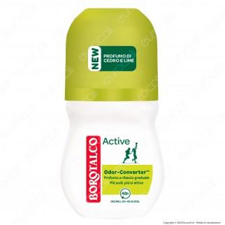 Borotalco Deodorante Roll-On Active Cedro & Lime - Flacone da 50ml