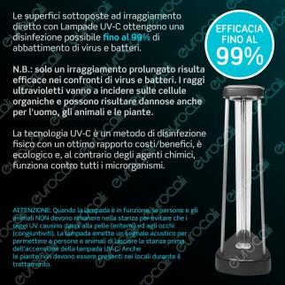V-Tac VT-3238 Germicidal Lamp with Ozone Lampada UV 38W Antibatterica con Ozono da Interno - SKU 11203