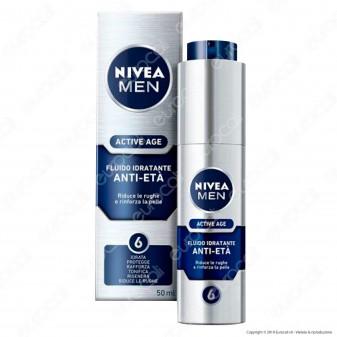 Nivea Men Active Age Fluido Idratante Anti-Età - Flacone da 50 ml