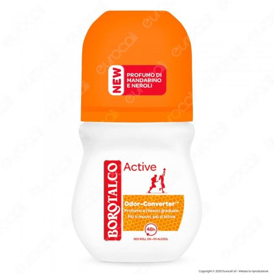 Borotalco Deodorante Roll-On Active Mandarino e Neroli - Flacone da 50ml