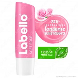 Labello Soft Rosé Balsamo Idratante Labbra Burrocacao Rosato - Confezione da 1pz