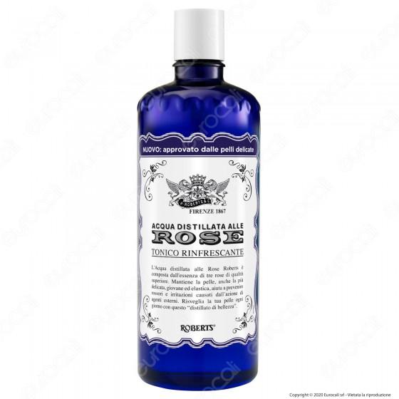 Acqua alle Rose Distillata Tonico Rinfrescante Viso e Collo - Flacone da 300ml