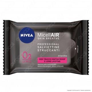 Nivea Micellair Skin Breathe Professional Salviettine Struccanti con Acqua Micellare e Tè Nero - Confezione da 20