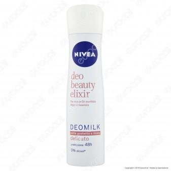 Nivea Deo Beauty Elixir Deodorante Spray Antitraspirante Delicato Senza Alcool - Flacone da 150ml